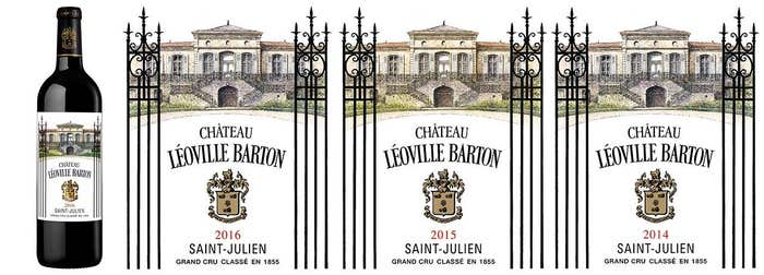 Laguna Cellar featuring Château Léoville Barton 2014 2015 2016 (3 vintage pack)