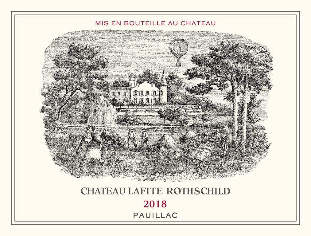 Lafite Rothschild 2018 Bottle Label